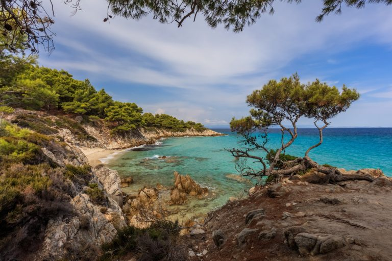 Orange Beach. Chalkidiki, Greece